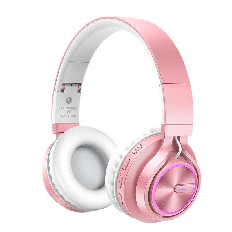 Rose Gold Wireless Headphones With Microphone Over Ear Stereo Headset Bass Big Earphone For PC Laptop Android Phone, For A Gift