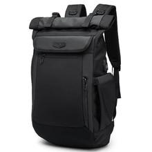 Men Backpack Travel-Bag Multifunction OZUKO Usb-Charging Teenager Designer Waterproof