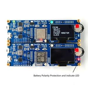 Image 4 - DSTIKE WiFi Deauther OLED V5 ESP8266 carte de développement pour 18650 batterie Protection de polarité avec boîtier antenne 4 mo I1 003