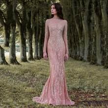 Femmes Robe pailletée hiver automne à manches longues Maxi Robe de soirée élégant dames longueur de plancher longues robes Vestidos Robe Femme