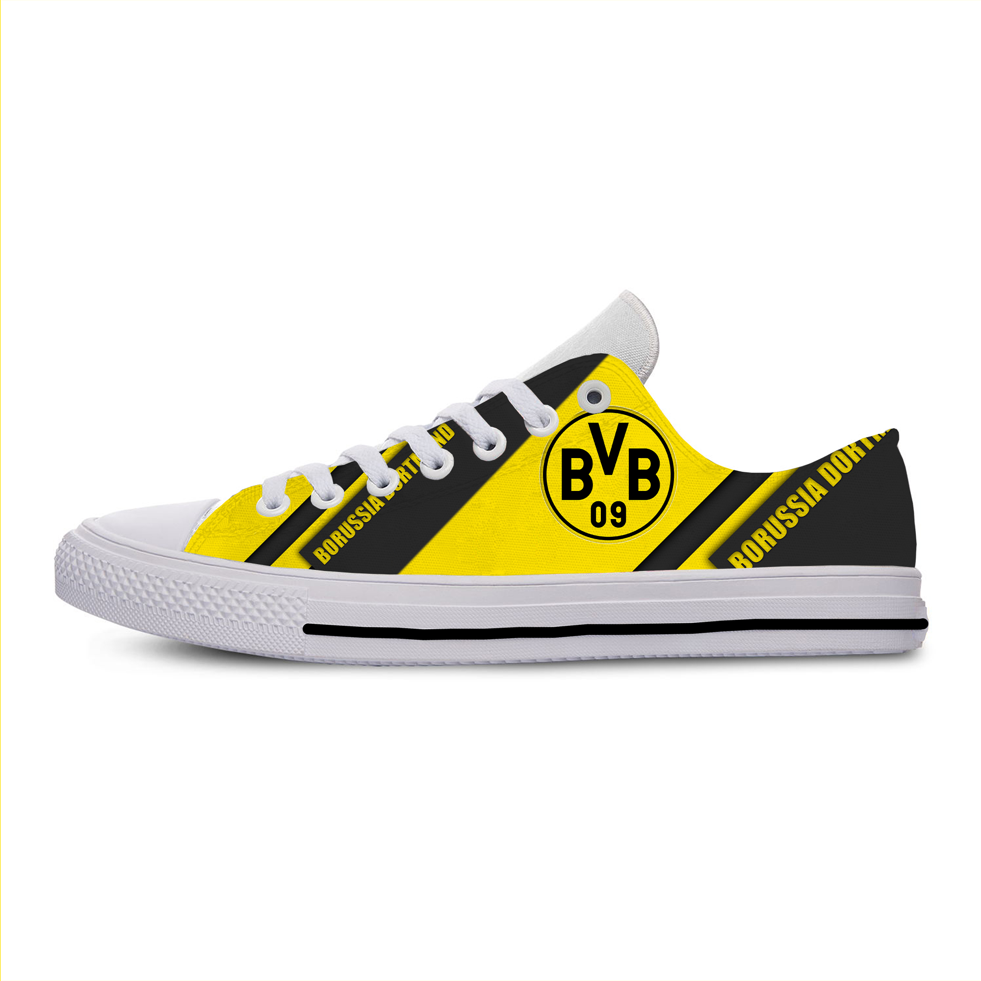 Borussia Dortmund Lightweight Soccer F.C. Fans Fashion Men/Women Football Culb Breathable Shoes Casual Classic Canvas Sneakers