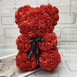 25 cm high roses bear Valentine's Day teddy bears 14 colors Holiday High-grade DIY gifts Christmas gift wedding decoration