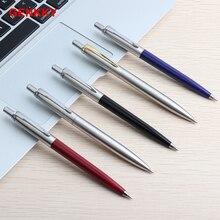 GENKKY металла Подарочная шариковая ручка ручки Core Solventborne автоматическая шариковая Ручки для школы Офис Написание 0,7 мм чернил цвет: черный, синий ручка шариковая
