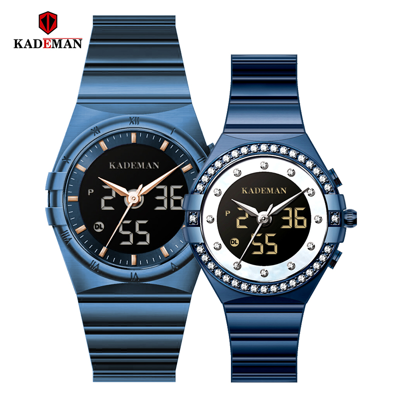 Kademan 2020 New Couple Watch Famous Brand Watch Watches Watch Sapphire Pair Watch Steel Lovers Gift For Birthday Watch K9079