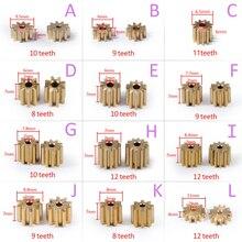 AZGIANT 1PC 8/9/10/11/12 teeth copper car motor gear for FC280 260 130 140 motor international standard universal pinion brass