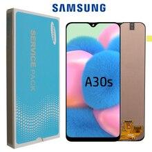 """100% oryginalny 6.4 """"super AMOLED do Samsung Galaxy A30s A307F A307 A307FN wyświetlacz LCD ekran wymiana Digitizer zgromadzenie"""