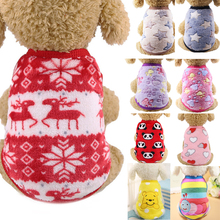 Fleece Pet Dog Clothes For Small Dogs Coats Jackets Winter Cartoon Warm Pet Clothing For Dog Clothes Soft Chihuahua Clothes Xxs leisure cartoon chihuahua dog clothes for puppy overalls 2019 spring dog clothes for small dogs coats jackets puppies clothing