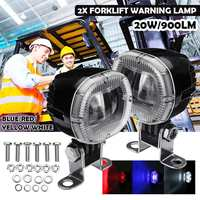12V 80V 20W LED Spot Work Driving Light Safety Warning Led Spotlight Red Yellow Blue White Warning Lamp Forklift Truck Lamp