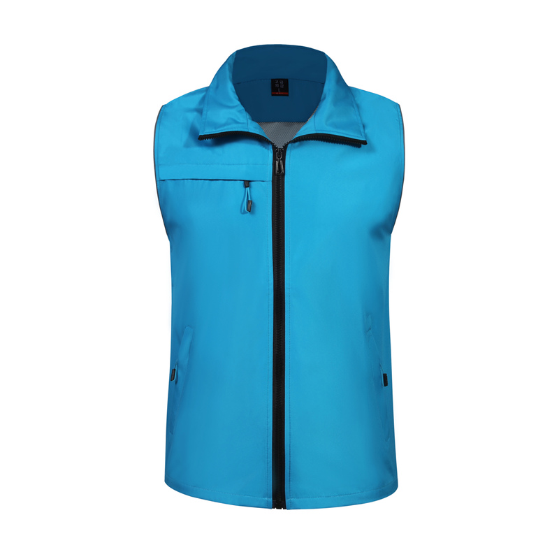 Customizable Casual Fashion Sleeveless Jacket Vest Wholesale Work Construction Security Outdoor Windproof Breathable Pocket Vest