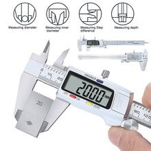 цена на 6 Inch 0-150mm Digital Caliper Stainless Steel Electronic Digital Vernier Calipers Metal Micrometer Measuring Tool Caliper Gauge