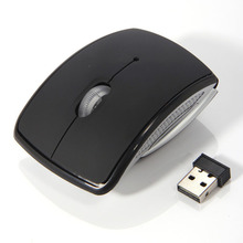 Portable Wireless Mouse 2 4G Computer Mouse Foldable Folding Optical Mice USB Receiver for Laptop PC Computer Desktop Office cheap NoEnName_Null 2 4Ghz Wireless 1600 Opto-electronic Finger Battery EL1373 Right