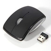 Портативная беспроводная мышь 2.4 г компьютер складной складной оптическая мышь USB приемник для ноутбука настольного офисного ПК