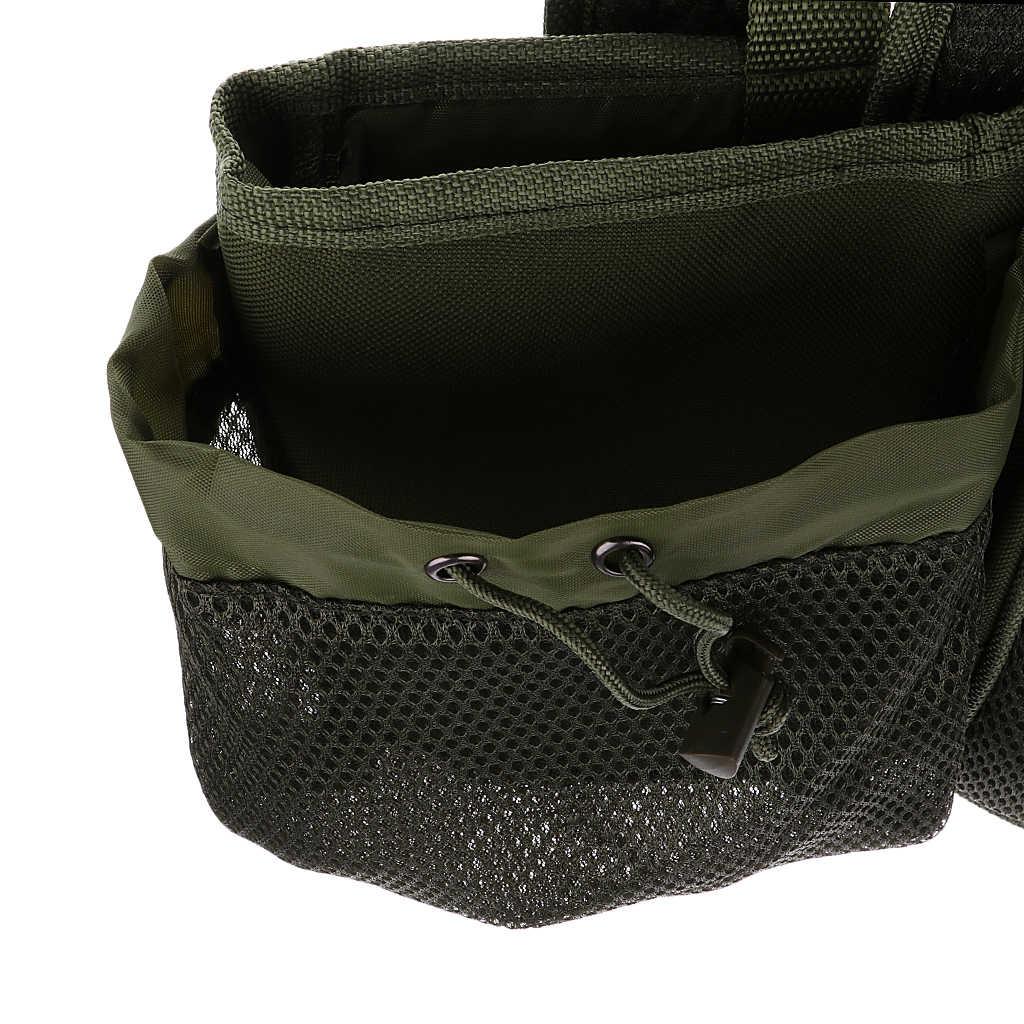 Memancing Kursi Kotak dengan Harness Ransel Converter Kursi Kotak Ransel Tentara Hijau
