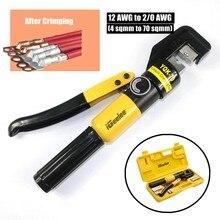 Igeelee kit de ferramentas de friso hidráulico, YQK-70 6t w/ 8 moldura + estojo para fio cabo 4-70mm