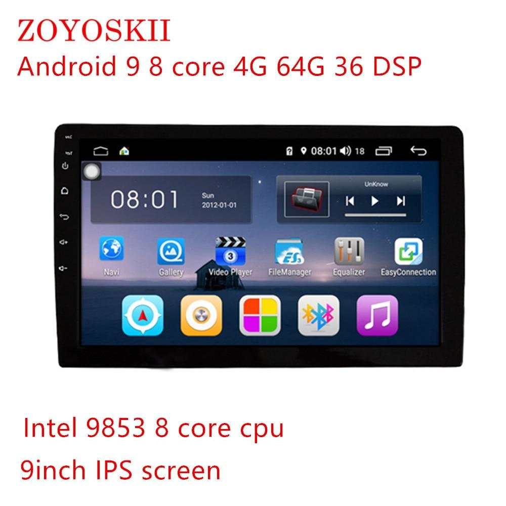 Android 9.0 Os 9 Inch Screen Main Unit CAR Radio GPS Bluetooth Navigation No Frame No Cables