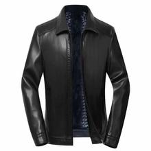 Free shipping mens leather jacket men winter coat motorcycle jacket mens winter trends coat