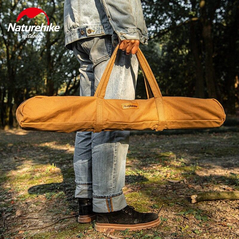 Naturehike-Bolsa de almacenamiento de lona para tienda de campaña ultraligera, bolsas de almacenamiento de lona duraderas, bolsa de herramientas para acampar al aire libre (postes excluidos)