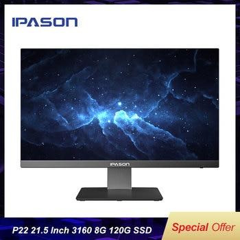 IPASON all in one PC 21.5 inch Intel 4 Core 4G DDR4 RAM 240G SSD Narrow bordered Black mini PC WIFI Bluetooth