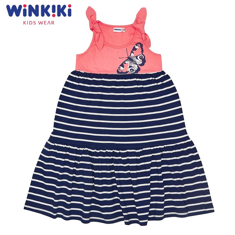 Dresses WINKIKI WJG91408 children's dress clothes for girls sundress Cotton  Casual dresses modis m181w00768 women dress cotton clothes apparel casual for female tmallfs
