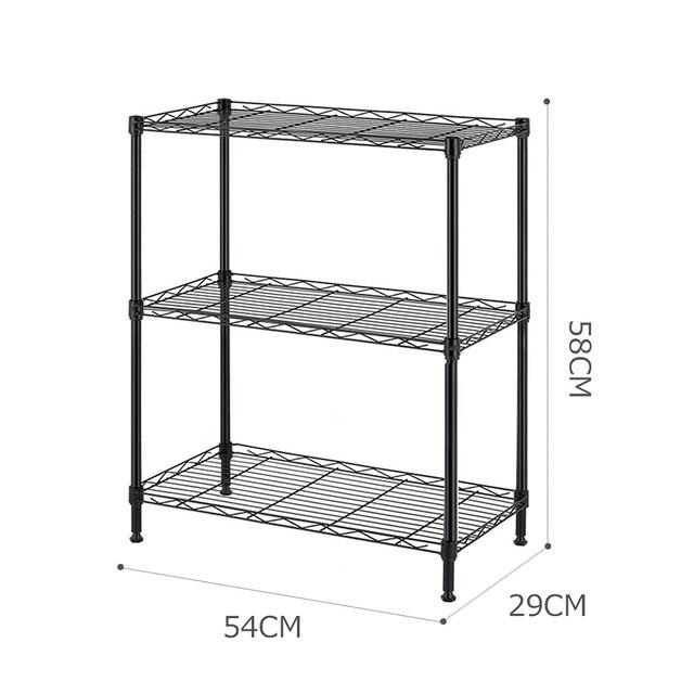 Nowy 3 Tier przechowywania regały przechowywanie w domu jednostki metalowy Organizer stojak z drutu Organizer łazienkowy mikser kuchenny półka do przechowywania
