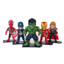 5pcs Avengers 4 Marvel 9.5cm Spider Man Captain America Thor Hulk Iron Action Figure Kids Toys B670