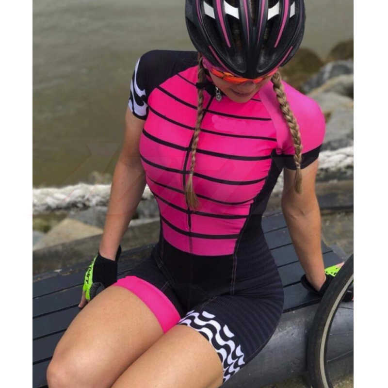 Femmes profession triathlon costume vêtements cyclisme skindiits corps ensemble rose roupa de ciclismo barboteuses femmes combinaison triatlon kits