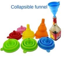 Silicone funnel telescopic folding oil funnel kitchen supplies kitchen funnel