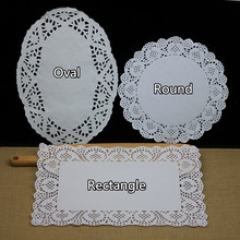 Round oval rectangular lace lace bottom pizza paper pad hollow out oil absorption of about 180 copies