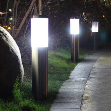 Pillar-Light Pathway Villa Street-Post Landscape Outdoor Garden Light-Community Stainless-Steel