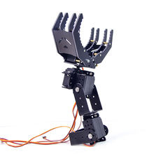 4 DOF Metal Robotic Arm Large Claw With Steering Gear For Programming Robot For Children Educational Toys Gift -Assembly Version(China)