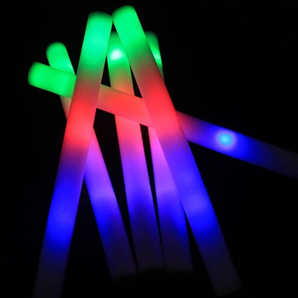 Luminous LED Glow Light Stick Foam Wand Concert Performance Party Prop Toy Led Light Glowing Toys For Kids Adult Birthday Gifts