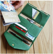 Women PU leather Wallets Travel Passport Holder Credit ID Card Cash Ticket Coupons Purse Case Functional Clutch Wallet Tripping