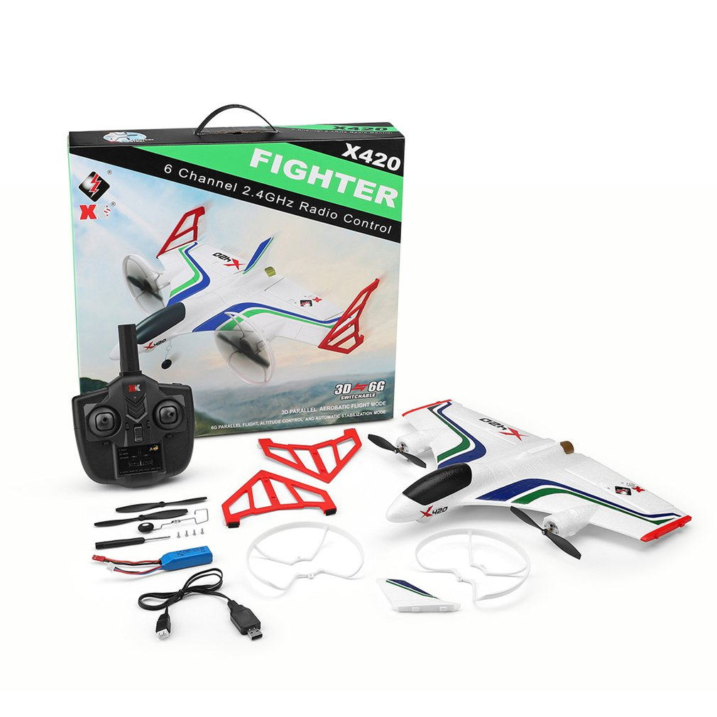 New X420 RC Airplane 6CH 3D/6G Take Off and Landing Stunt RC Drone 050 Strong Magnetic Motor Remote Control Aircraft RC Airplane
