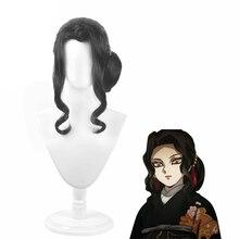 Аниме демон убийца карнавальный костюм комплект из модных женских термостойкие синтетические волосы короткие парики карнавальные костюмы...