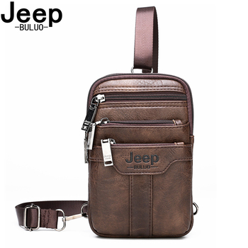 JEEP BULUO Men Shoulder Messenger Bags Small Multi-function Sling Chest Bag Legs Waist Bag For Man New Fashion Casual Crossbody jeep buluo men crossbody bags fashion high quality leather chest bag for young man casual male sling bags travel shoulder bag