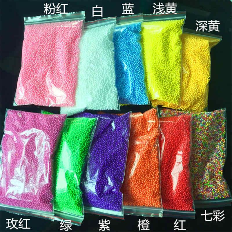 Colorful Perle di Schiuma Slime Fornisce Palle Piccolo Neve Pendenti e Ciondoli di Riempimento Aggiunta per Slime Particelle di Fango Accessori Antistress Giocattoli