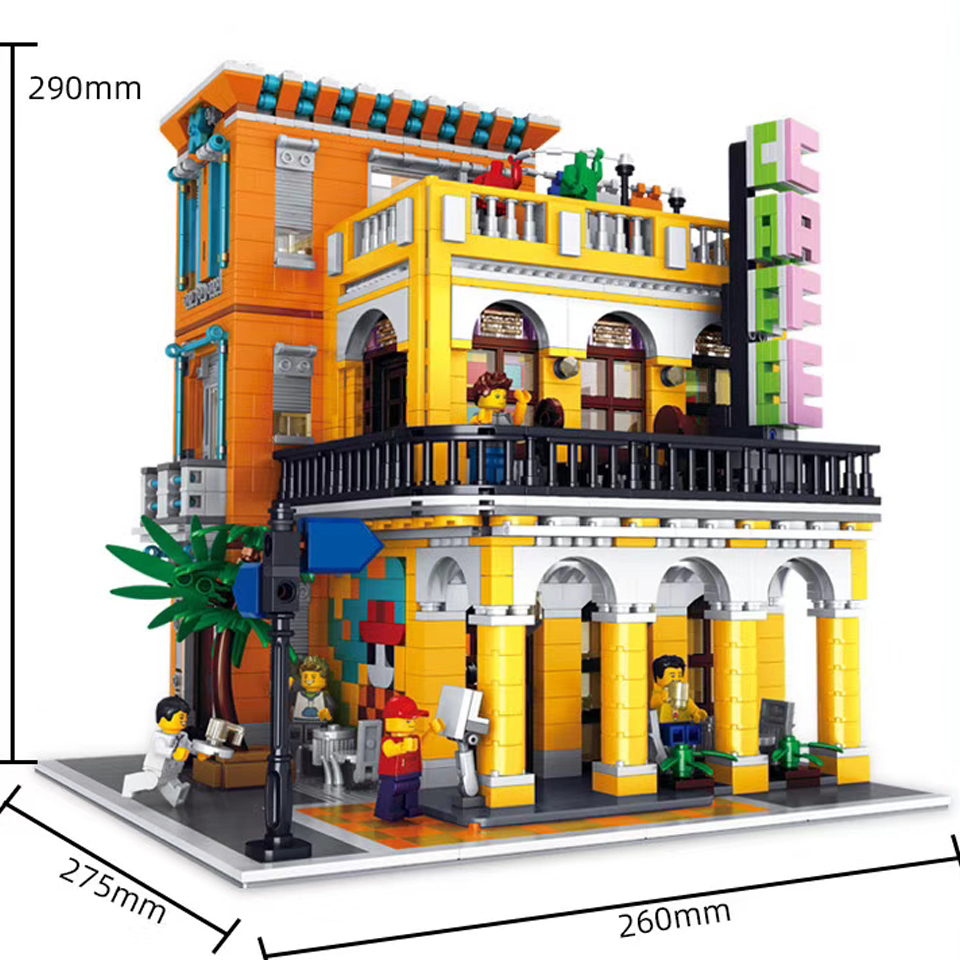 10002 Factory City Street European Market Model Building Blocks Bricks Kits Children Toys Gifts Compatible Lepining City 10190