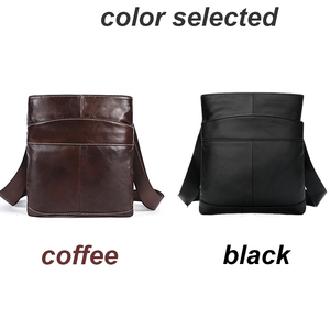 Image 5 - MVA Mens shoulder bag for men oil leather small messenger bag mens genuine leather crossbody/males bags for men handbag 703