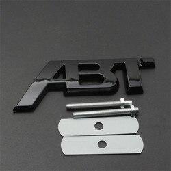 1X 3D ABT Sportsline Badge For Audi A3 8V A4 B8 B9 A5 A6 A7 Q2 Q3 Q5 Q7 Q8 Honeycomb Mesh Hood Grill Badge Side Sticker Trim