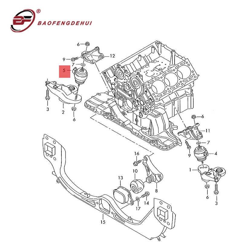 Engine Motor Mount for 2006-2011//2005-2008 Audi A6 Quattro Front Left 3.2 L