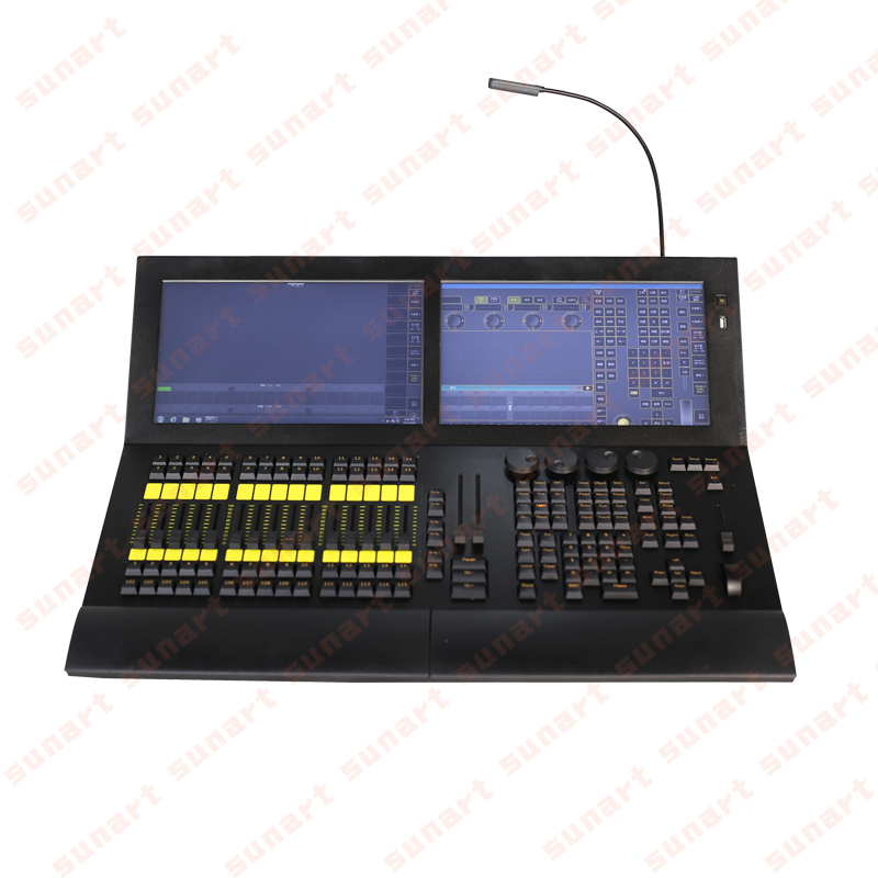 Free Shipping Mini MA Dot 2 Stage Effect Lighting Console Controller For Dj Disco Work With Moving Head Ship With Flight Case