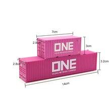 20GP 40ft bina tren konteyner modelleri HO 1:87 oyuncak kum masa yapmak için minyatür manzaralar