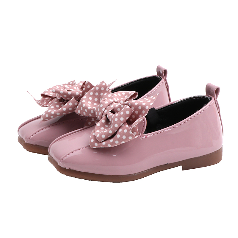 Girl Children Rubber Soles Flat Shoes Kid Flower Bow Princess Shoes For Party
