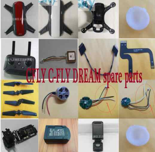 Accesorios Plegables para helic/ópteros CW//CCW para C-Fly Dream//JJ-RC X9 RC Aerial Drone Quadcopter UAV FairOnly