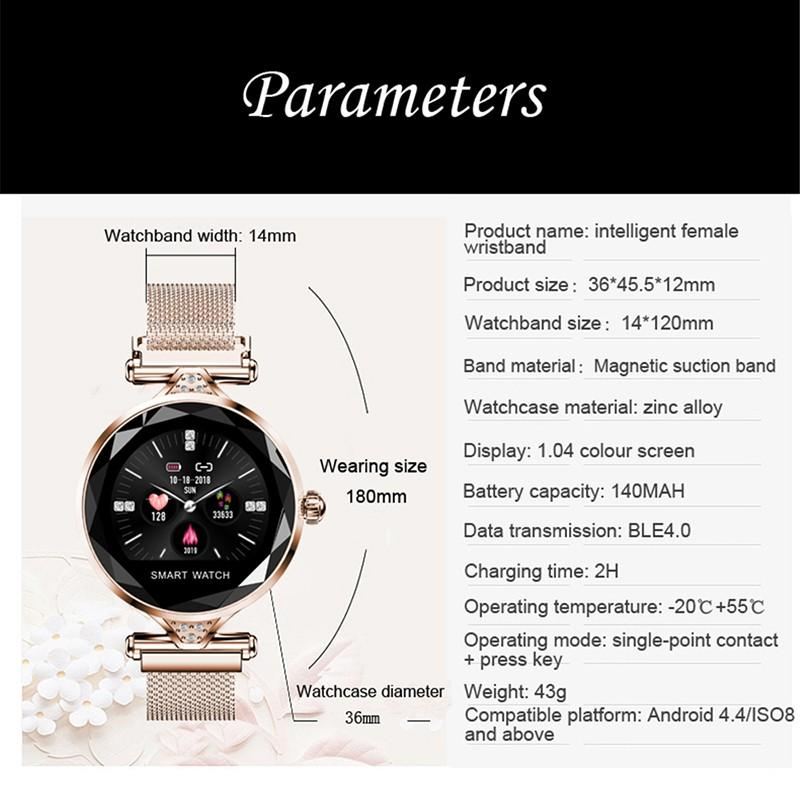 H9040f16ac1894aaa8f17d18088ff306a9 2021 Fashion Smart Watch Women IP68 waterproof Multi-sports modes Pedometer Heart Rate smartwatch Fitness Bracelet for Lady Gift