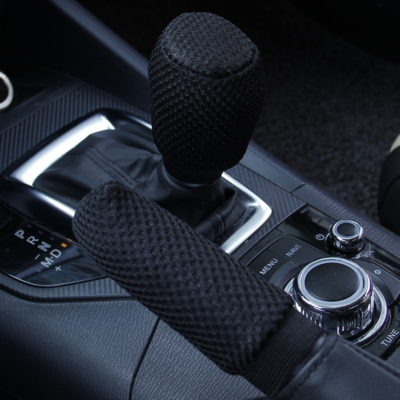 2Pcs/set Handbrake Grips Handbrake Cover Gear Set Comfortable Four Seasons Car Accessories New 2019