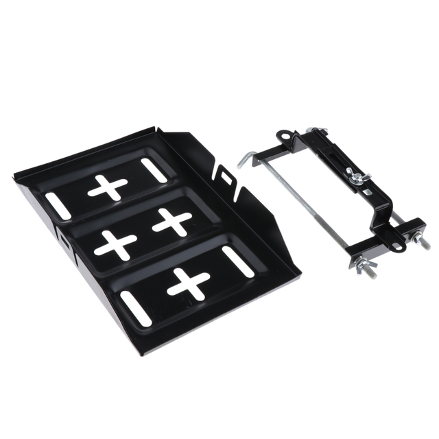 Tray 28cm Clamp 19cm H HILABEE Universal Battery Hold-Down Tray for Boat//Marine//Car//Caravan//RV WD-ZJ01 Type