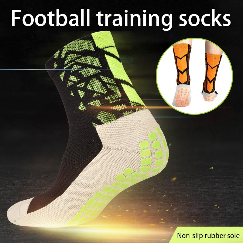 Socks Soccer Mid-Calf Rubber Band Pure Cotton Anti Slip Football Fitness Equipment Sports Comfortable