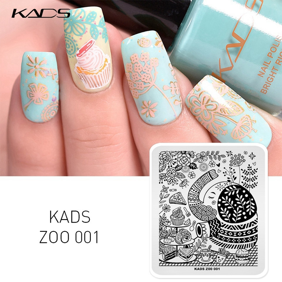 Kads Lovely Zoo 001 Design Nail Art Stamp Stamping Nail Stamp Animals Elephant Cake Decorations Template For Nail Art Polish Templates For Nails Design Templatesdecor Templates Aliexpress