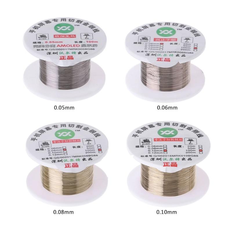 100 M Hợp Kim Vàng Molypden Cắt Dây Dòng Màn Hình LCD Hiển Thị Màn Hình Cảm Biến Tách Sửa Chữa Rxjb|Bộ dụng cụ cầm tay|   - AliExpress